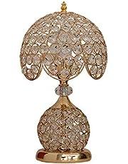 Crystal Desk Lamp, Elegant Lamps, Decorative Lamp, Nightstand Lamp Desk Lamp for Living Room Bedroom Dining Room Kitchen Table Lamps, Gold