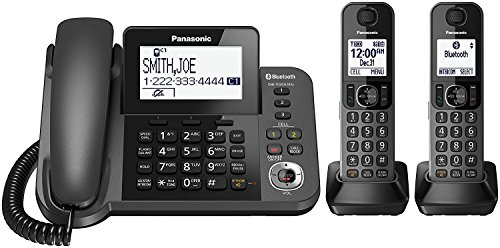 Panasonic KX-TGF382M Link2Cell Bluetooth Corded / Cordless Cordless Phone and Answering Machine with 2 Cordless Handsets (Certified Refurbished)