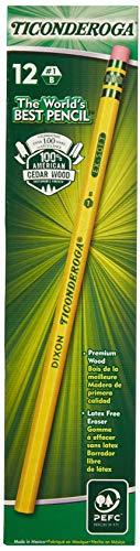 Ticonderoga Yellow Pencil, No.1 Extra Soft Lead, Dozen DIX13881