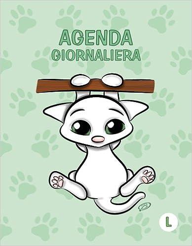 Agenda giornaliera - L: Colore Verde Menta - Gatti ...