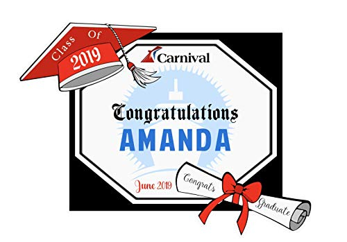 Personalized Graduation Diploma Cruise Door Magnet | Carnival Cruise Magnet | Royal Caribbean Magnet | Celebrity | Holland America | Norwegian Cruise Line | Princess Cruises Magnets | Class Of 2019]()
