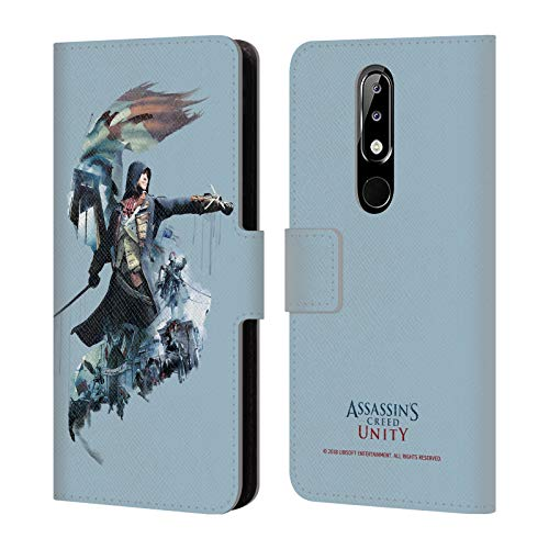 - Official Assassin's Creed Arno Dorian Unity Character Art Leather Book Wallet Case Cover Compatible for Nokia 5.1 Plus / X5