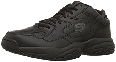 Skechers for Work Men's Keystone Sneaker,Black,7 M US