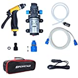 Electric Car Washer,EFORCAR High Pressure Car Washer Pump,12V 80W Electric Washer Pump Car Washer Device for Auto,Pet, Window,Watering and Camping