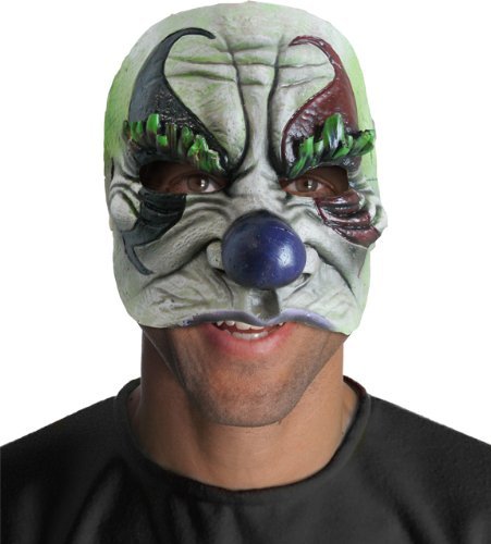 Rubie's Costume Half Giggles Chinless Clown Mask, Gray, One Size