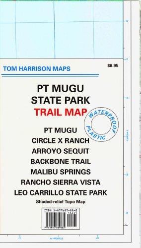 PT Mugu State Park Trail Map: PT Mugu, Circle X Ranch, Arroyo Sequit, Backbone Trail, Malibu Springs, Rancho Sierra Vista, Leo Carrillo State Park: (Tom Harrison Maps)