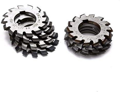 GENERICS LSB-Werkzeuge, 8 stücke HSS Involute Zahnradfräser Set Durchmesser 22mm M1 Modul PA 20 Grad # 1-8 Sortiment Kit for Elektrowerkzeuge
