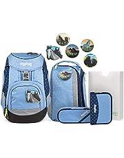 Ergobag Pack HimmelreitBär, ergonomischer Schulrucksack, Set 6-teilig, 20 Liter, 1.100 g, Blau