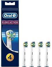 Oral-B Floss Action Końcówki Do Elektrycznej Szczoteczki Do Zębów, Biały, 4 Szt.