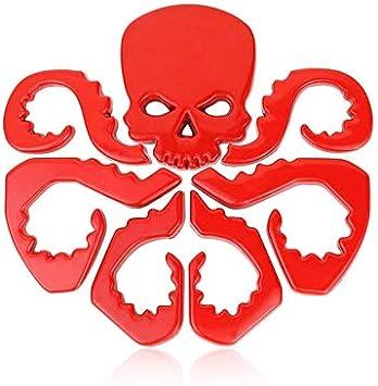 Tehui Red Skull stereoskopische 3D-personalisierte Auto-Logo Aufkleber Avengers hydraMetallKarosserie Paste Schwanz Aufkleber