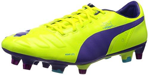 Puma evoPOWER 1 Mixed SG - Zapatos de fútbol de material sintético hombre Arancione (Orange (fluro yellow-prism violet-scuba blue 02))