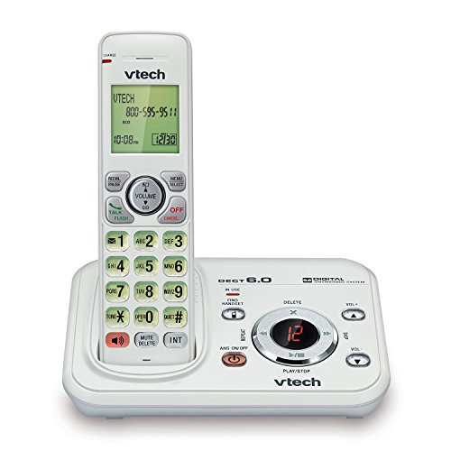 VTech TR17-2013 FoneDeco DECT 6.0 Cordless Phone with Digital Answering System and Caller ID, Expandable up to 5 Handsets, Wall-Mountable, White