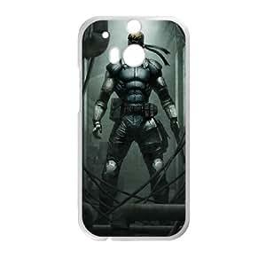 L7Y91 Solid Snake de Metal Gear A5I0EU sólida funda HTC uno M8 funda caja del teléfono celular cubren DJ2TVU5HN blanco