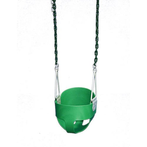 Gorilla Playsets Full Bucket Toddler Swing Color: Green