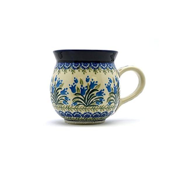 Polish Pottery Mug – 15 Oz. Bubble – Blue Bells