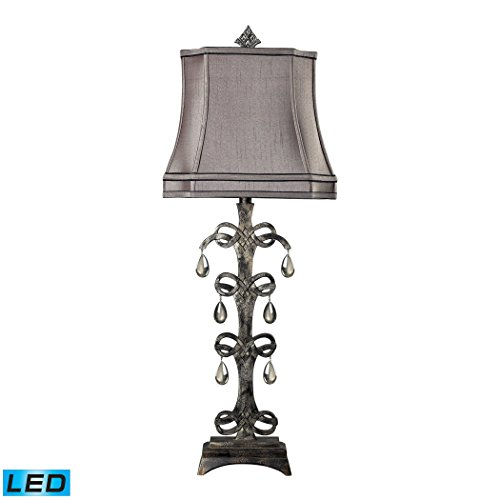 Durand Table Lamp (Manhattan Collection Castello Teak Crystal LED Table Lamp in Durand Finish)