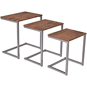 nesting furniture. Giantex 3PC Stacking Nesting Coffee End Table Set Living Room Modern Home Furniture Y
