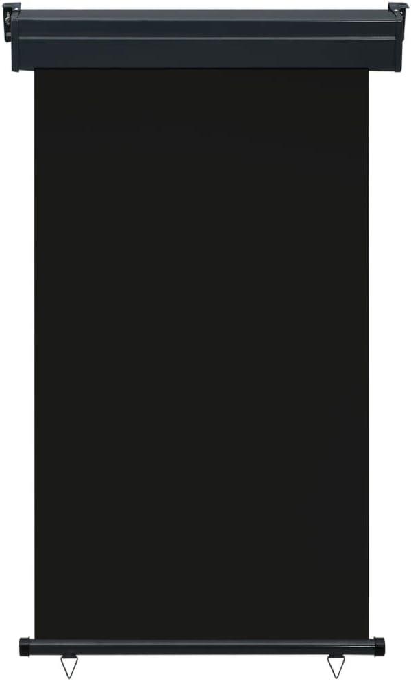 vidaXL Balkon Seitenmarkise Senkrechtmarkise Sonnenschutz Sichtschutz Windschutz Markise Au/ßenrollo Balkonrollo Beschattung 100x250cm Schwarz