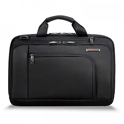 Briggs & Riley Contact Medium Brief, Black, One (Medium Laptop Brief)