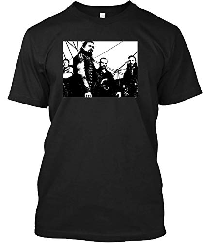 Black sails captains pirates billy silver flint and vane standing on pirate ship T-shirt Consistent with the size, fit and great feeling ()