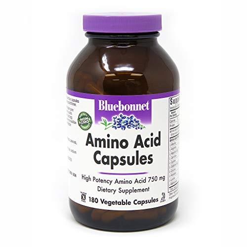 (Bluebonnet Amino Acid 750 mg Vitamin Capsules, 180)
