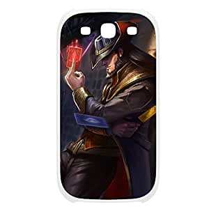 TwistedFate-001 League of Legends LoL case cover Samsung Galaxy Note3 Plastic White