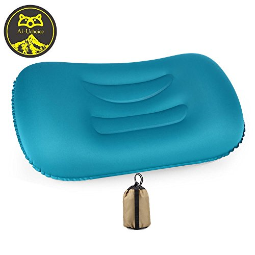 Fold Pillow (Ai-Uchoice Inflatable Camping Pillow by Ultralight Backpacking Blow Up Pillow - Compact and Compressible Neck Lumbar Support for Sleeping while Hiking, Travel, Camp,Beach)