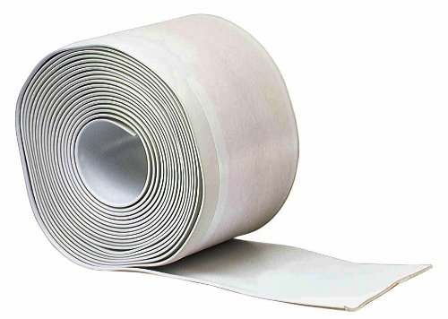 Cove Base Trim - M-D Building Products 93203 4-Inch by 20-Feet Adhesive Back Vinyl Wall Base, White