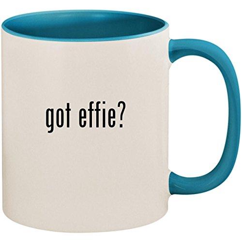 got effie? - 11oz Ceramic Colored Inside and Handle Coffee Mug Cup, Light Blue
