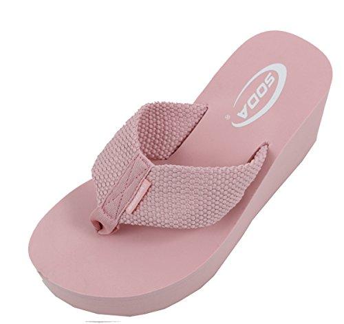 Soda-Womens-Oxley-Flip-Flop-Thong-Platform-Wedges-Sandals-Eva-3