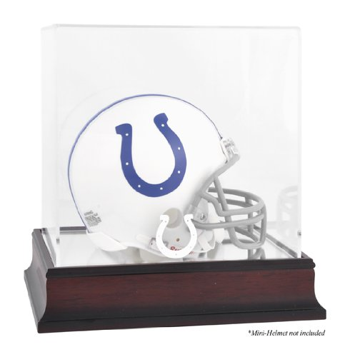 - Indianapolis Colts Mahogany Mini Helmet Logo Display Case