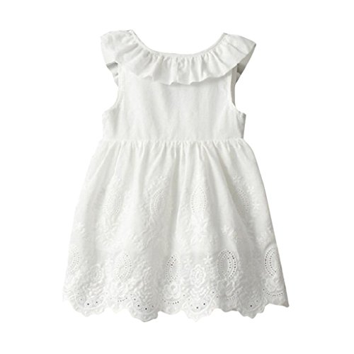 Goodlock Toddler Kids Fashion Dress Baby Girls Princess Party Clothes Big Bow Sleeveless Tutu Dresses (Size:6/7T)