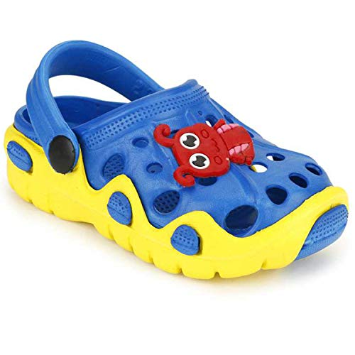 SMARTOTS Kids Unisex Soft and Comfortable Clogs Sandals Multicolour for 15 Months to 5 Years