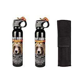Guard Alaska Bear Spray with Nylon Holster 132 Most Effective and Powerful Bear Spray available today! Spray range of 20 feet! Works on all species of bears, Even works on Wet Bears!