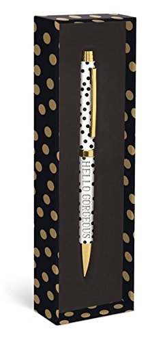(Graphique Gold Dots Fashion Pen, 5.5