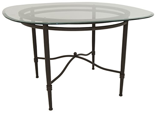 "Impacterra Pacifica Dining Table, Bronze/Clear Glass 48"" Square"