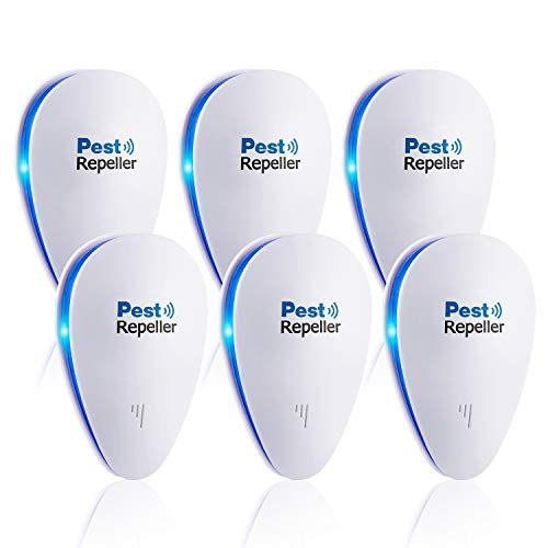 GoXteam Ultrasonic Repeller Pest Control, 6 Pack