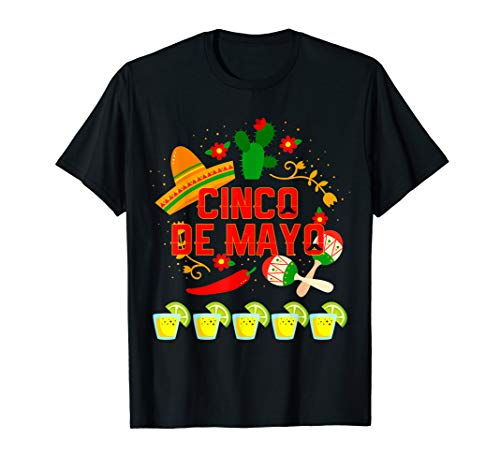 Fiesta Cinco De Mayo T-Shirt Cinco De Mayo Costume Shirt -