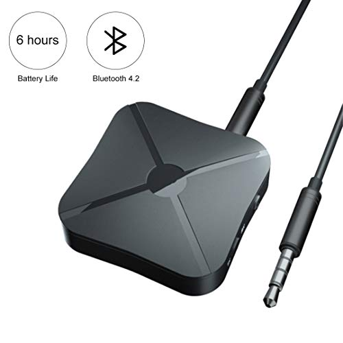 Bluetooth 4.2 Adapter Bluetooth Transmitter Receiver 2-in-1 Wireless 3.5mm aptX Low Latency Adapter for TV/Home Sound System for Single Bluetooth Signal Device