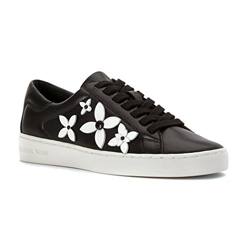 MICHAEL Michael Kors Women's Lola Sneaker Black/Optic White PVC - Find Michael Kors