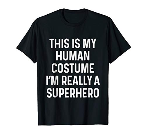 Funny Superhero Costume Shirt Halloween Kid Adult Men -