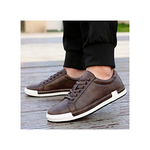 ECOLAQ& New Spring/Summer Men Non-Slip Sneakers Soft Comfortable Breathable lace-up Flats Shoe Big Size 48 Shoes PA-78 Brown 12]()