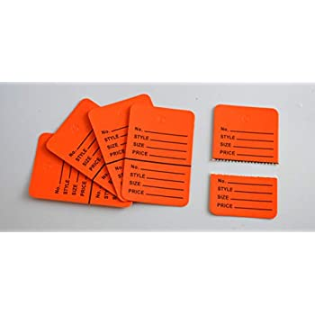 1000 Golden Merchandise Price Jewelry Garment Store Paper Small Tags 4.5x2.5cm