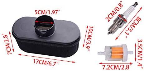 4pcs filtre /à air et filtre /à air et bougie dallumage Fit pour Kawasaki FR651V FR691V FR730V FS481V FS541V moteur papier mousse de m/étal en plastique