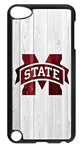 iPod Touch 5 Case, iPod 5 Case - Stylish Mississippi State Bulldogs Logo Design Hard Case Back Cover for Apple iPod Touch 5 / iPod 5th Generation / iPod 5 Black