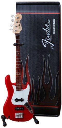 Fender J Bass Mini Guitar Replica, Red