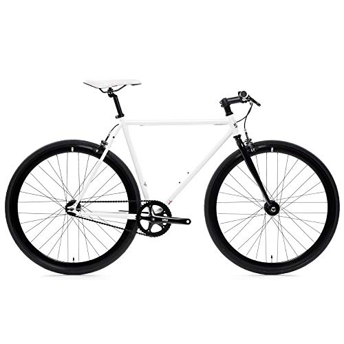 Ghoul Core-Line State Bicycle | Fixie Single Sped Fixed Gear Bike - Ghoul (White & Black) Large (58 cm)