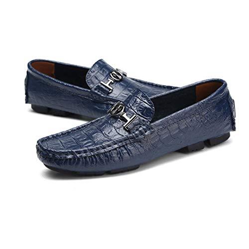 Casual Guisantes Gran Tamaño De Ligera y Zapatos Suela Otoño Primavera Europa Conducción Hombre Confort Zapatos Slip de E Mocasines Ons Zapatos de Cuero de Rq4xTU