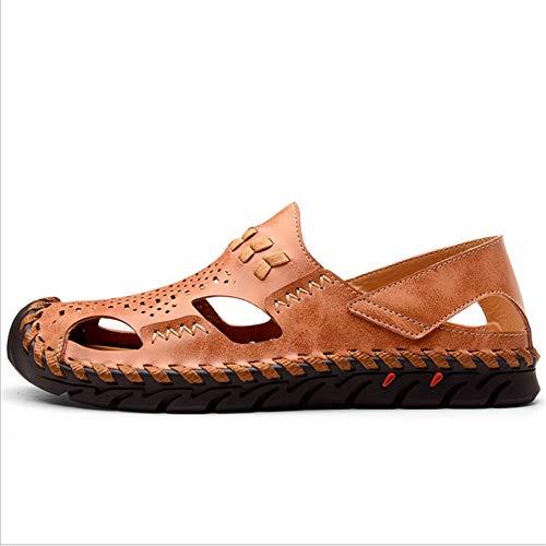 0 Cm Los 27 2 Eu De Hombres 42 Con Marrón color Libre Deportes Cuero Sandalias 0 3 Sandalia Tamaño Frescas Zapatos 24 Marrón Aire Al aO56xgxwq1