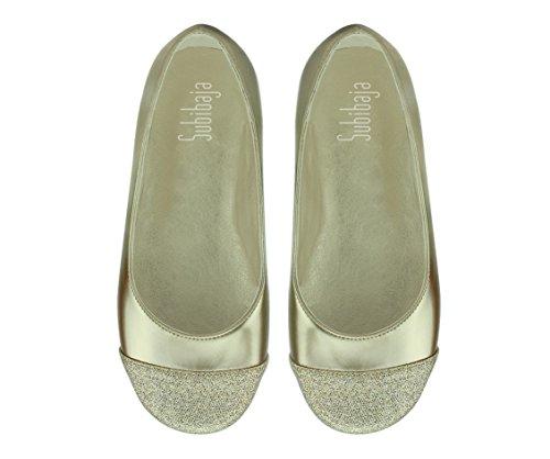 Subibaja Zoe Mommy & Me Shoes - Zapatillas De Ballet De Plata Con Purpurina Tapa Superior Para Mujer De Oro